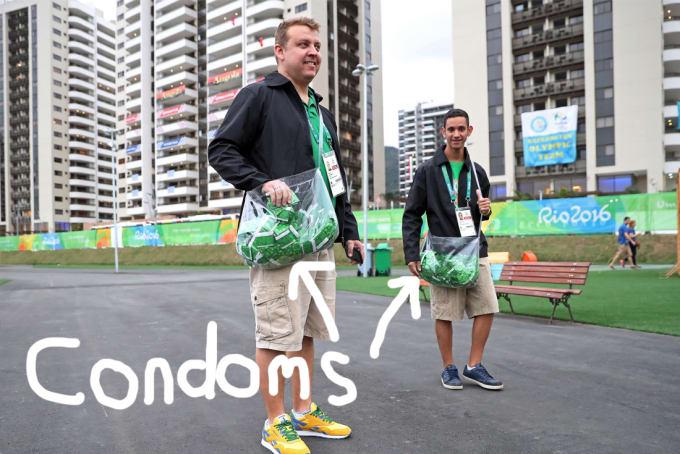 olympics condoms