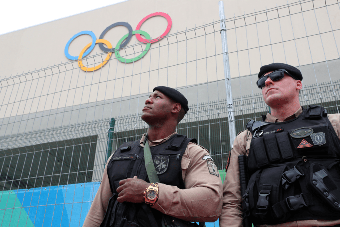 olympic soldiers in Rio