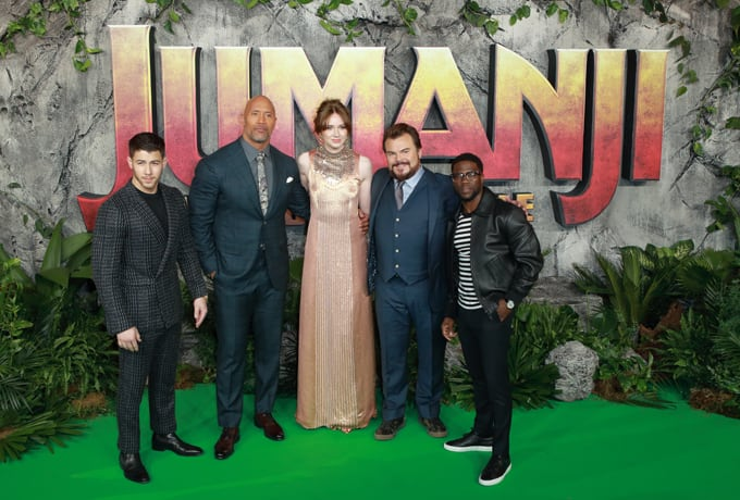 Cast attends the UK premiere of 'Jumanji: Welcome To The Jungle'