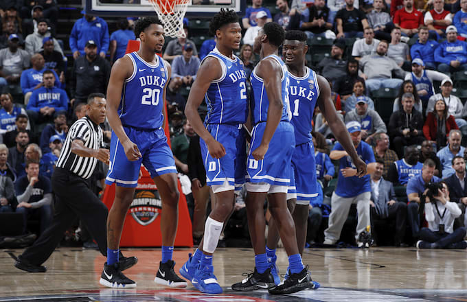 Cam Reddish, RJ Barett, Zion Williamson of Duke