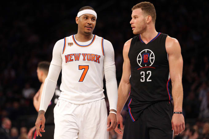 Carmelo Anthony Blake Griffin MSG 2017