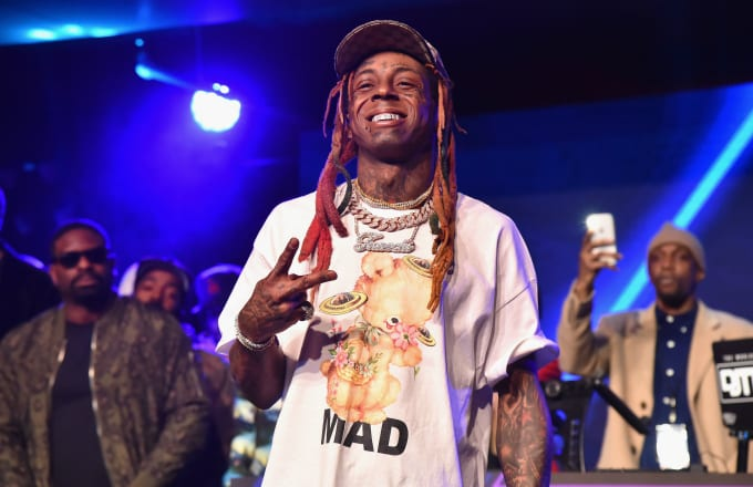 Lil Wayne performs at Sports Illustrated Saturday Night Lights