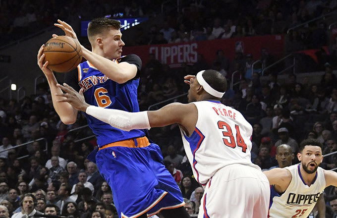 kristaps porzingis vs the clippers