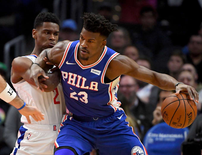 Jimmy Butler Shai Gilgeous Alexander Clippers Sixers 2018