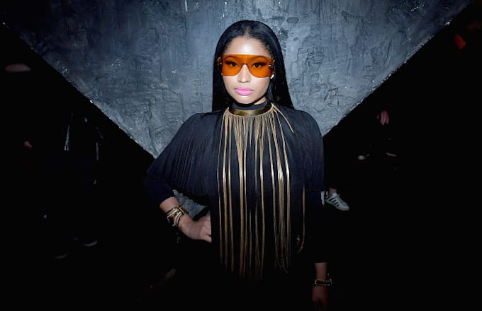 Nicki Minaj attends Balmain aftershow party