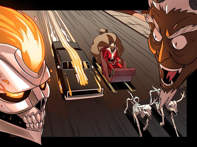 Ghost Rider vs. Krampus