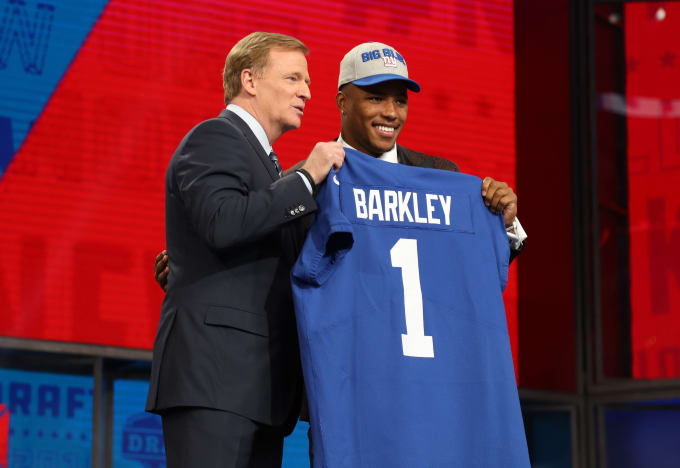 Saquon Barkley Roger Goodell NFL Draft 2018