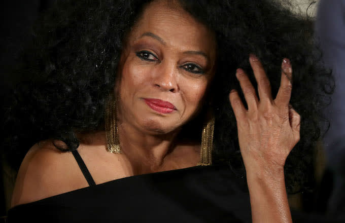Diana Ross being awarded the Presidential Medal of Freedom.