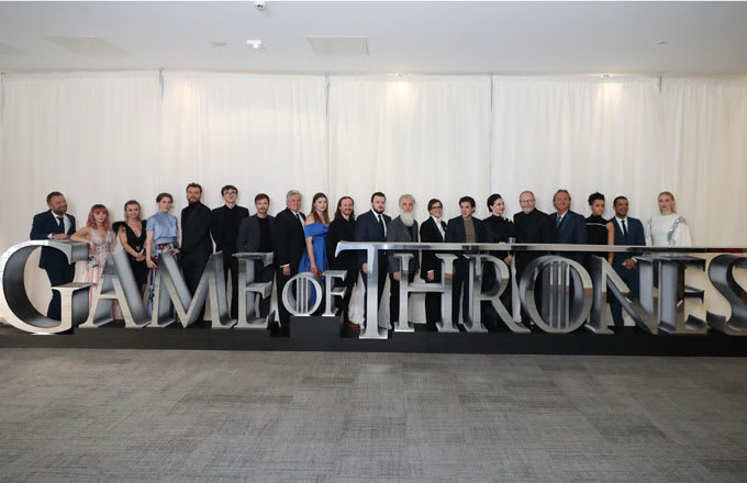 Game of Thrones cast at a Season 8 premiere screening.