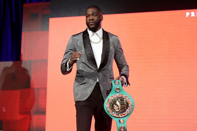 This is a picture of Deontay Wilder.