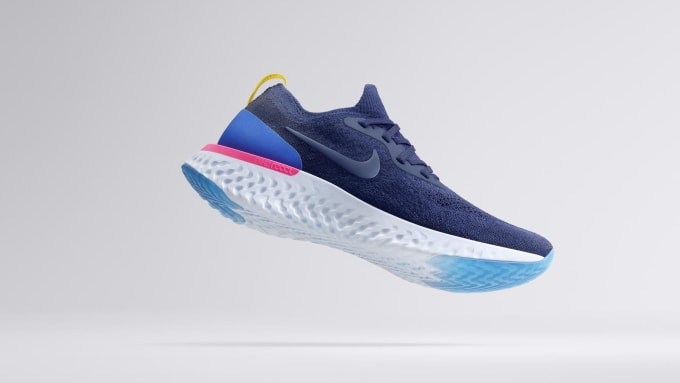71aaa9c63f63 The Nike Epic React Flyknit running shoes take performance to the ...