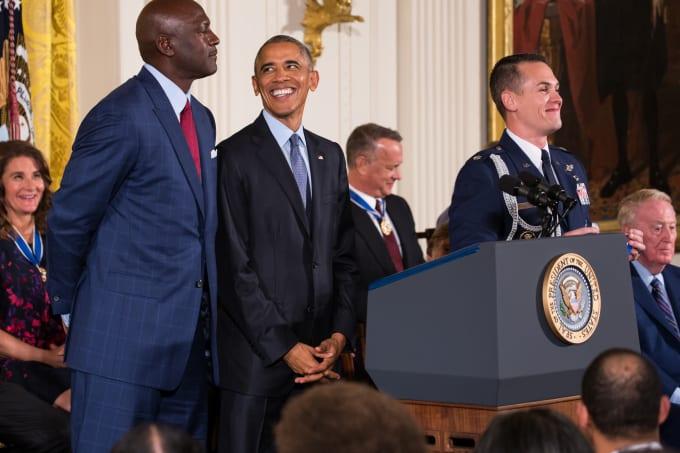 97e12a2c8656c5 Obama Michael Jordan 2016 Presidential Medal of Freedom