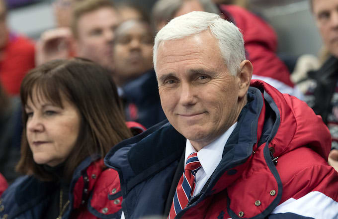 United States Vice President Mike Pence and his wife Karen
