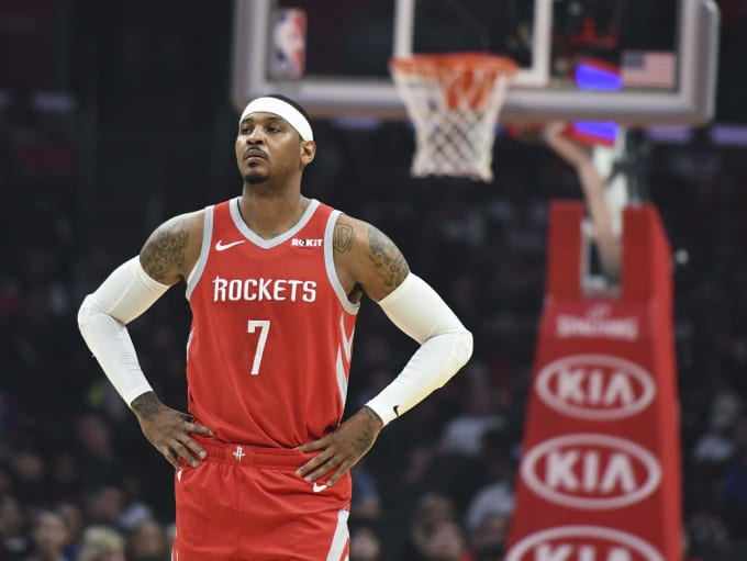 Carmelo Anthony Rockets Clippers 2018