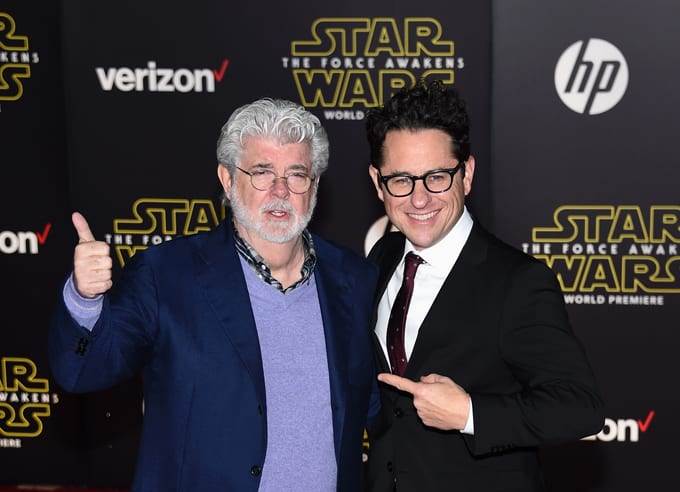 George Lucas and J.J. Abrams attend 'The Force Awakens' premiere