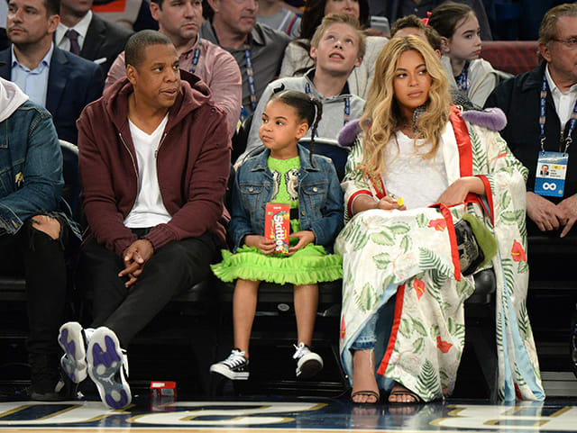 Jay Z and Beyoncé Attend The 66th NBA All-Star Game
