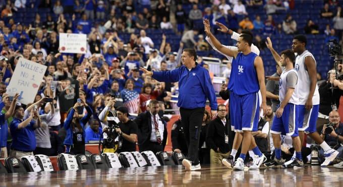 John Calipari Kentucky Wildcats Fans Rupp Arena