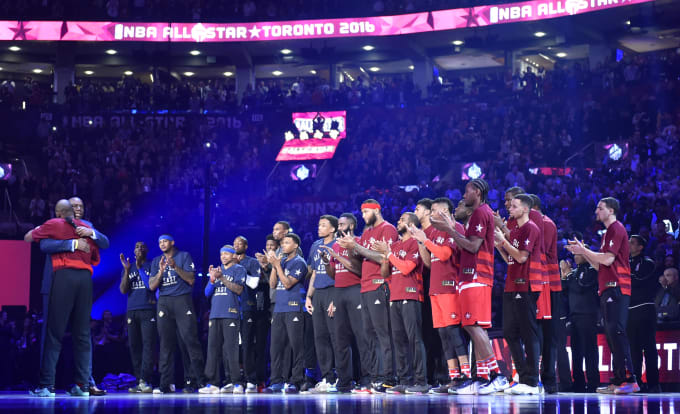 2016 NBA All-Star Team Lineups Toronto
