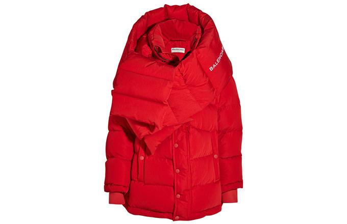 Balenciaga by Demna Gvasalia Red Puffer Jacket