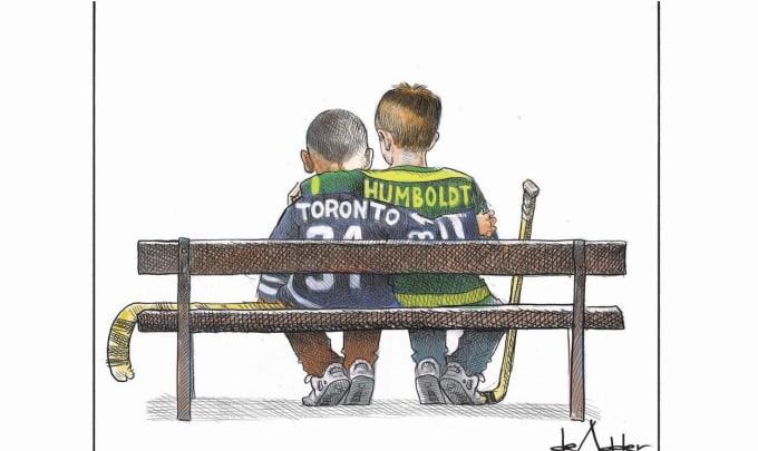 Heartwarming Cartoon Honours The Victims Of Toronto & Humboldt Tragedies