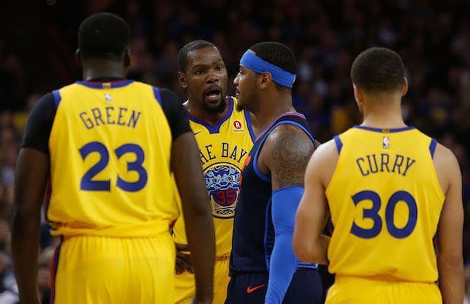 Draymond Green, Kevin Durant, Carmelo Anthony, Steph Curry