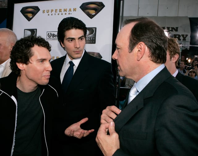 Bryan Singer, Brandon Routh and Kevin Spacey at 'Superman Returns' premiere