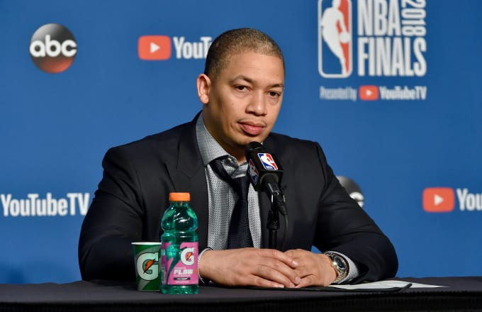 Tyronn Lue after Game 4 of the 2018 NBA finals