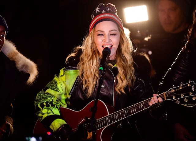 Madonna surprise concert in Washington Square Park