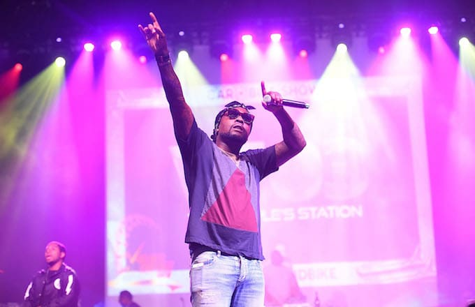 Rapper Wale performs at 2017 V-103 Care & Bike Show.