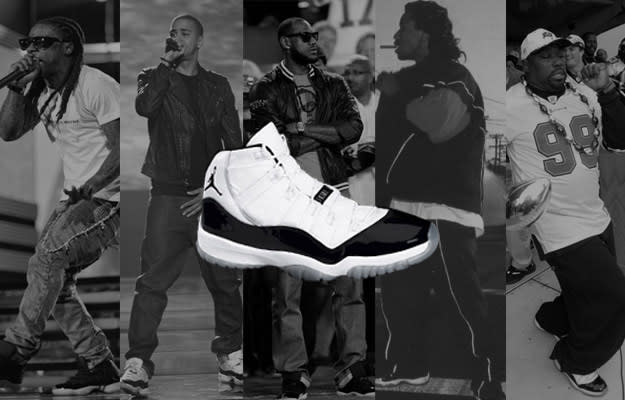 7bbd03efbdc87c A History of Celebrities Wearing the Air Jordan XI