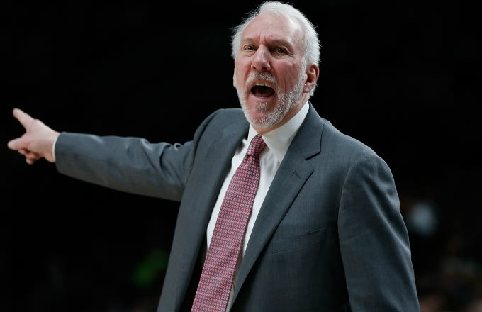 Gregg Popovich coaching.