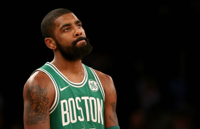 c2f625c300e Kyrie Irving reacts to a call against the Knicks.