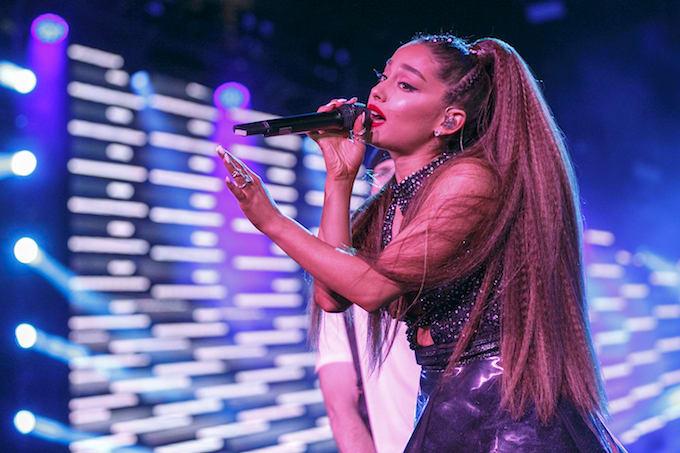 Ariana Grande performing in LA