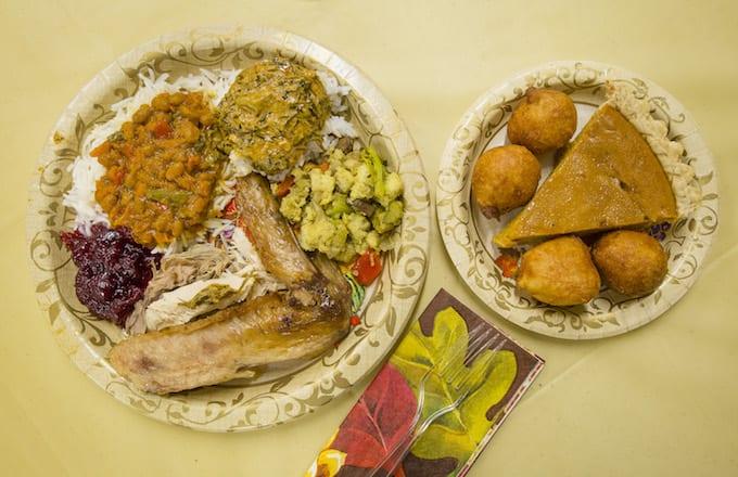 Thanksgiving dinner grandma teen