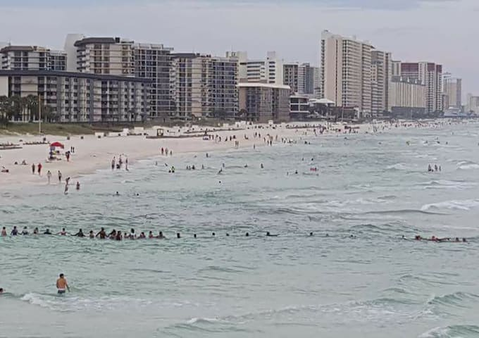 80-Person Human Chain on Panama City Beach