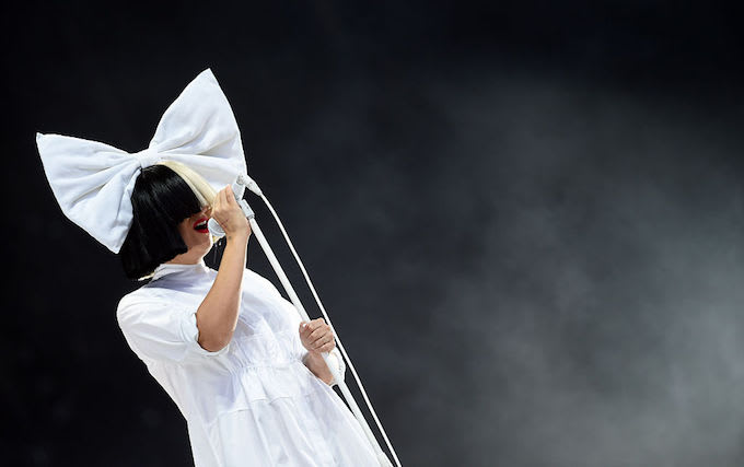 This is a picture of Sia.