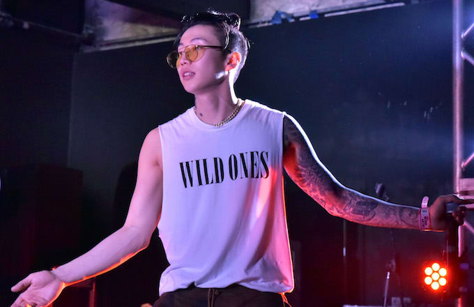 Jay Park performs onstage.