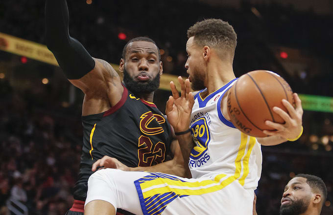 3835efb94e2 Watch LeBron James Block the Hell Out of Steph Curry s Shot at MLK ...