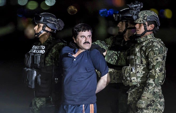 El Chapo is transported to Maximum Security Prison of El Altiplano in Mexico City, Mexico.