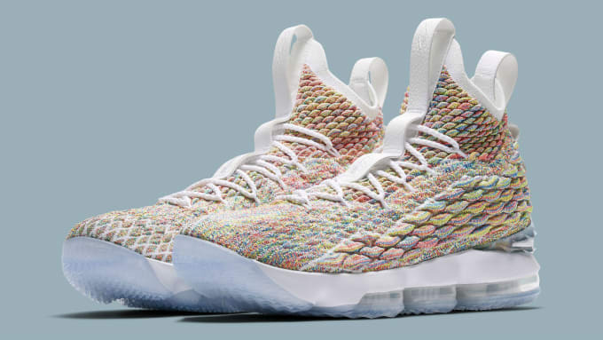 5b9fb756f7b8 Nike LeBron 15 Fruity Pebbles White Release Date 897648-900 Main