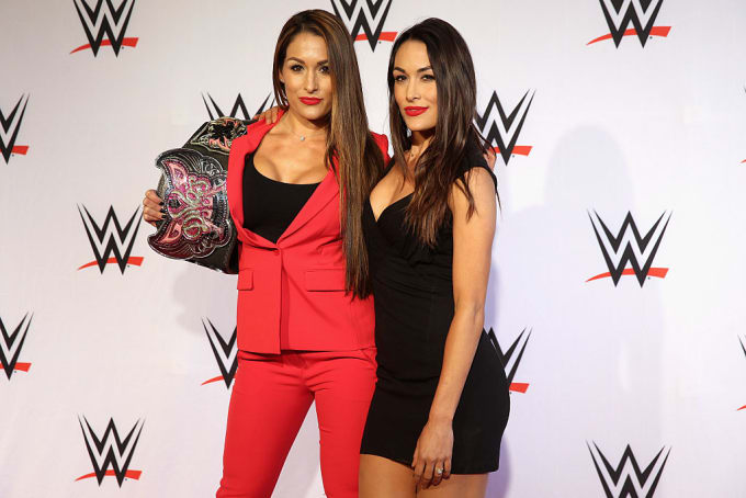 Bella Twins 2015 Germany Getty