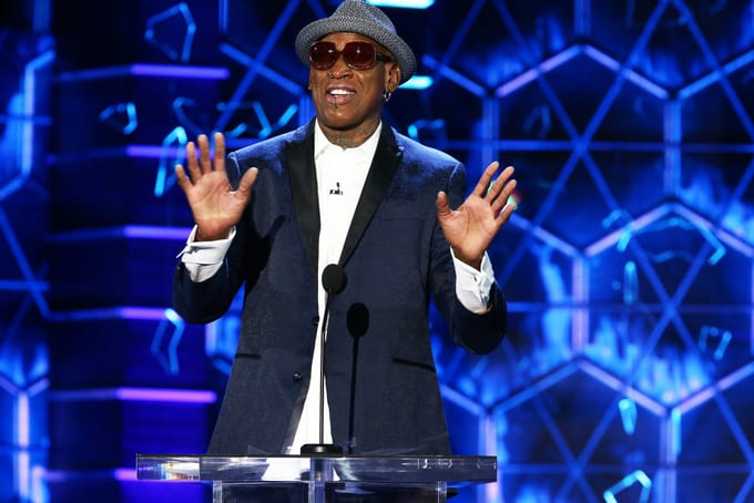Dennis Rodman attends the Comedy Central Roast Of Bruce Willis