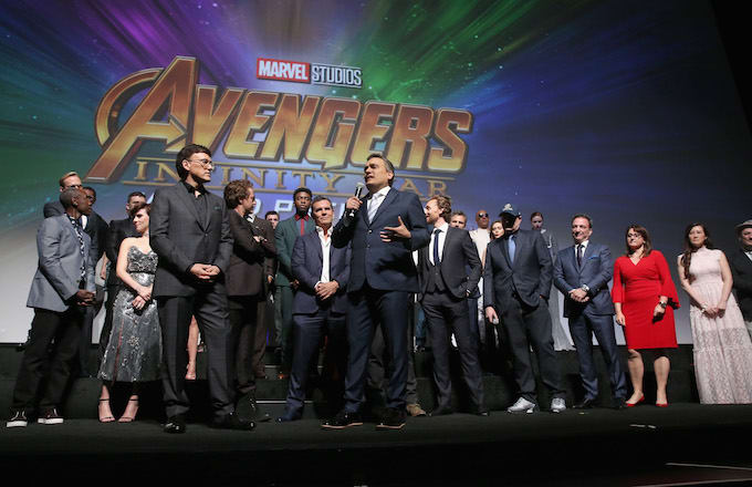 Anthony Russo and Joe Russo and cast & crew of 'Avengers: Infinity War'