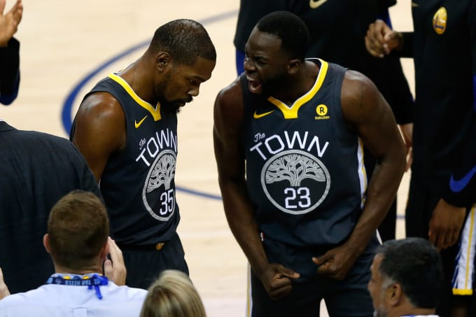 c242ecea8ffa Warriors Seek to Make Kevin Durant and Draymond Green  Brothers ...