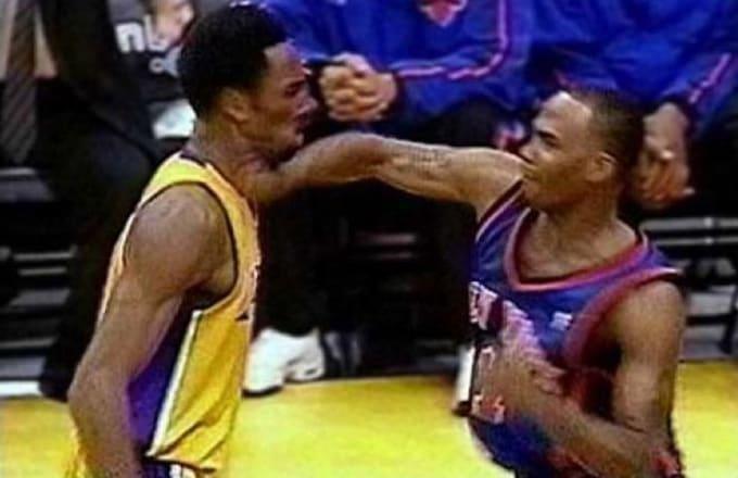 Kobe Bryant Chris Childs Fight