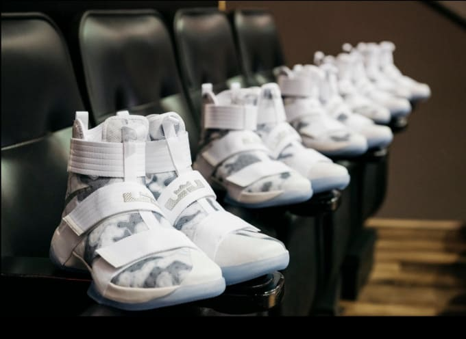 6b2c683cca7 LeBron James Gives Free Sneakers to Veterans Shoes
