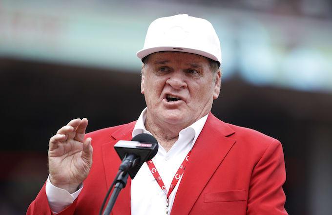 Former Cincinnati Reds great Pete Rose.