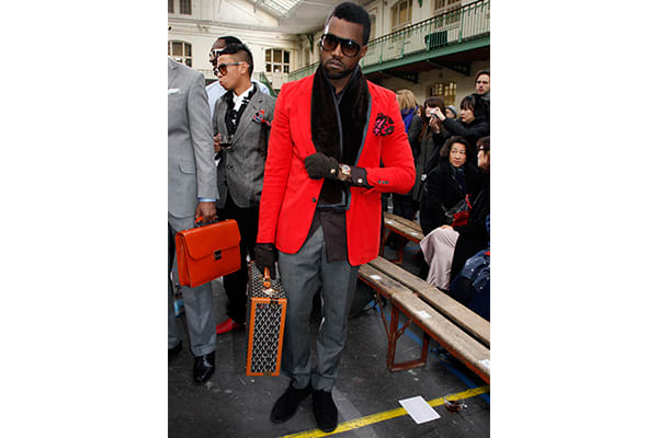100-best-kanye-west-outfits-paris-fashion-week-2009-red