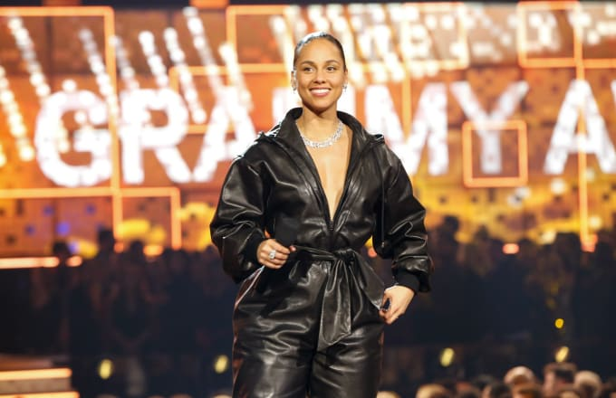 Alicia Keys hosts at THE 61ST ANNUAL GRAMMY AWARDS
