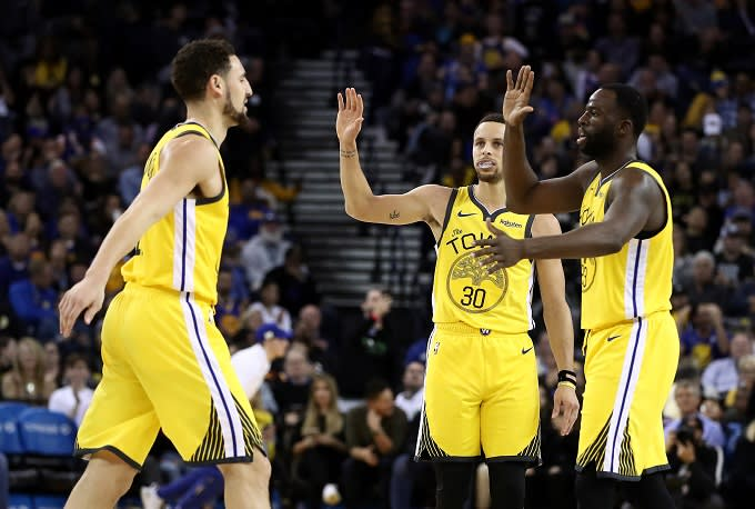 1feb877a6651 Draymond Green on Steph Curry and Klay Thompson   They Show Up in ...